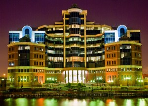 Victoria Office Building at Night, Salford Quays