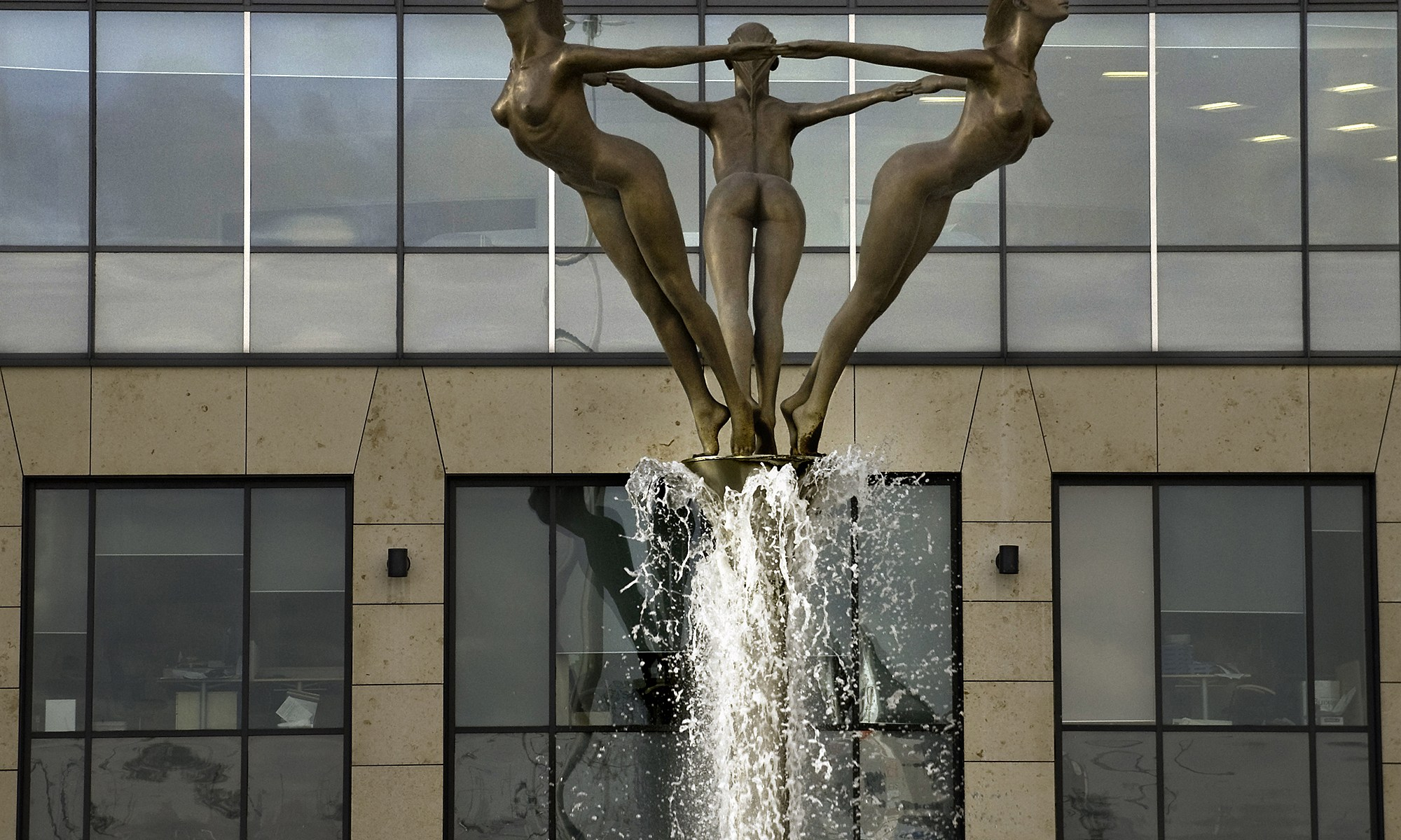 Water Statue in Trafford Park