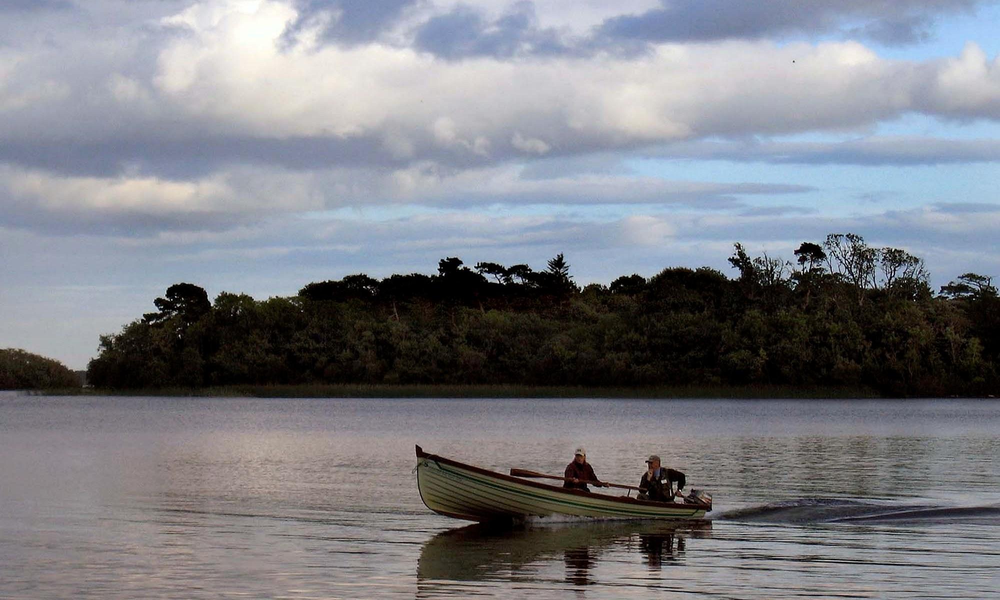 Fishing boat on Lough Corrib, Ireland