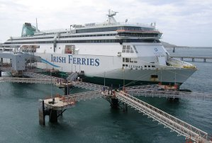 Irish Ferries Ship in Port, Holyhead, Wales