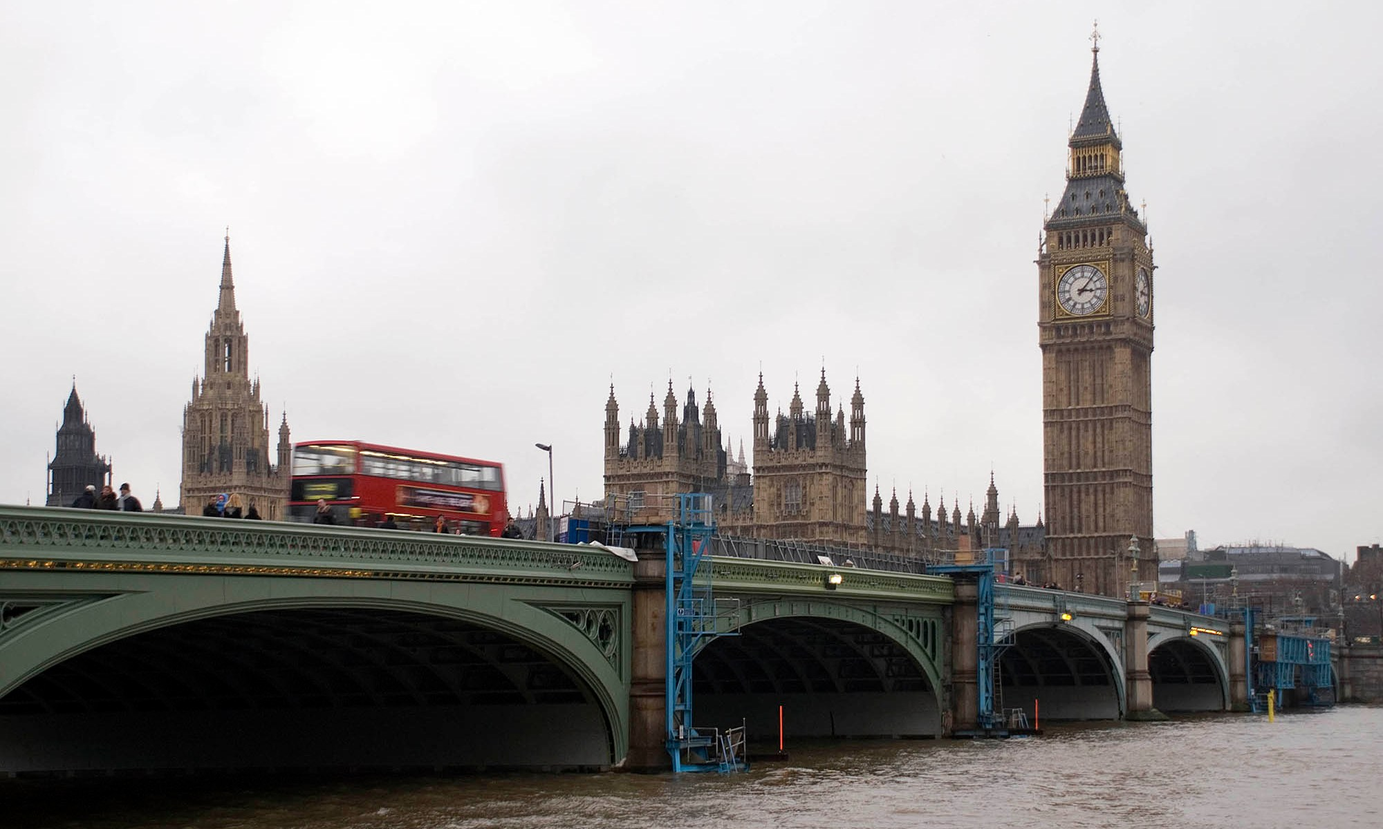 London's Westminster Bridge with Big Ben