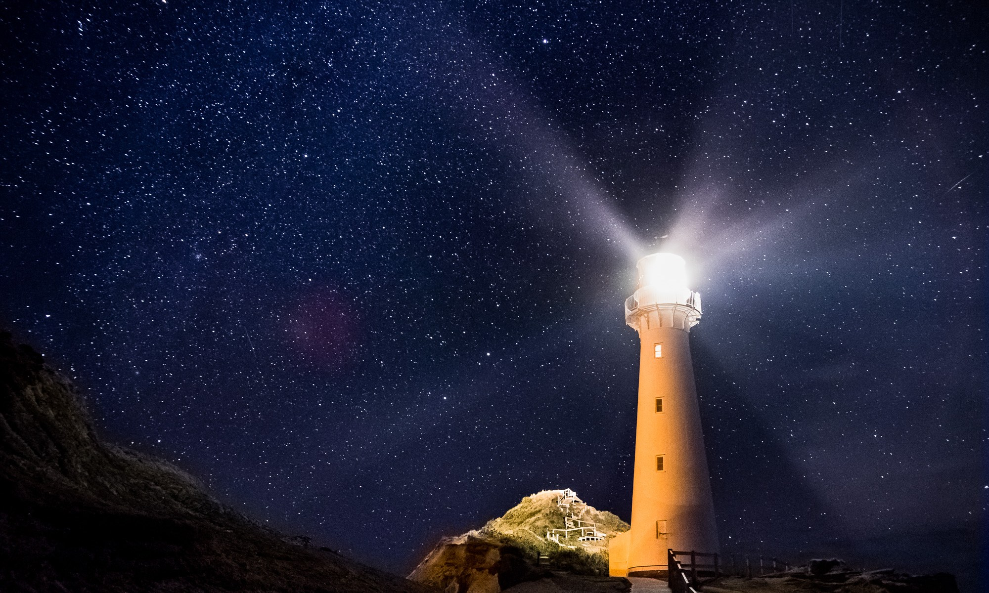 Stars over Castlepoint Lighthouse