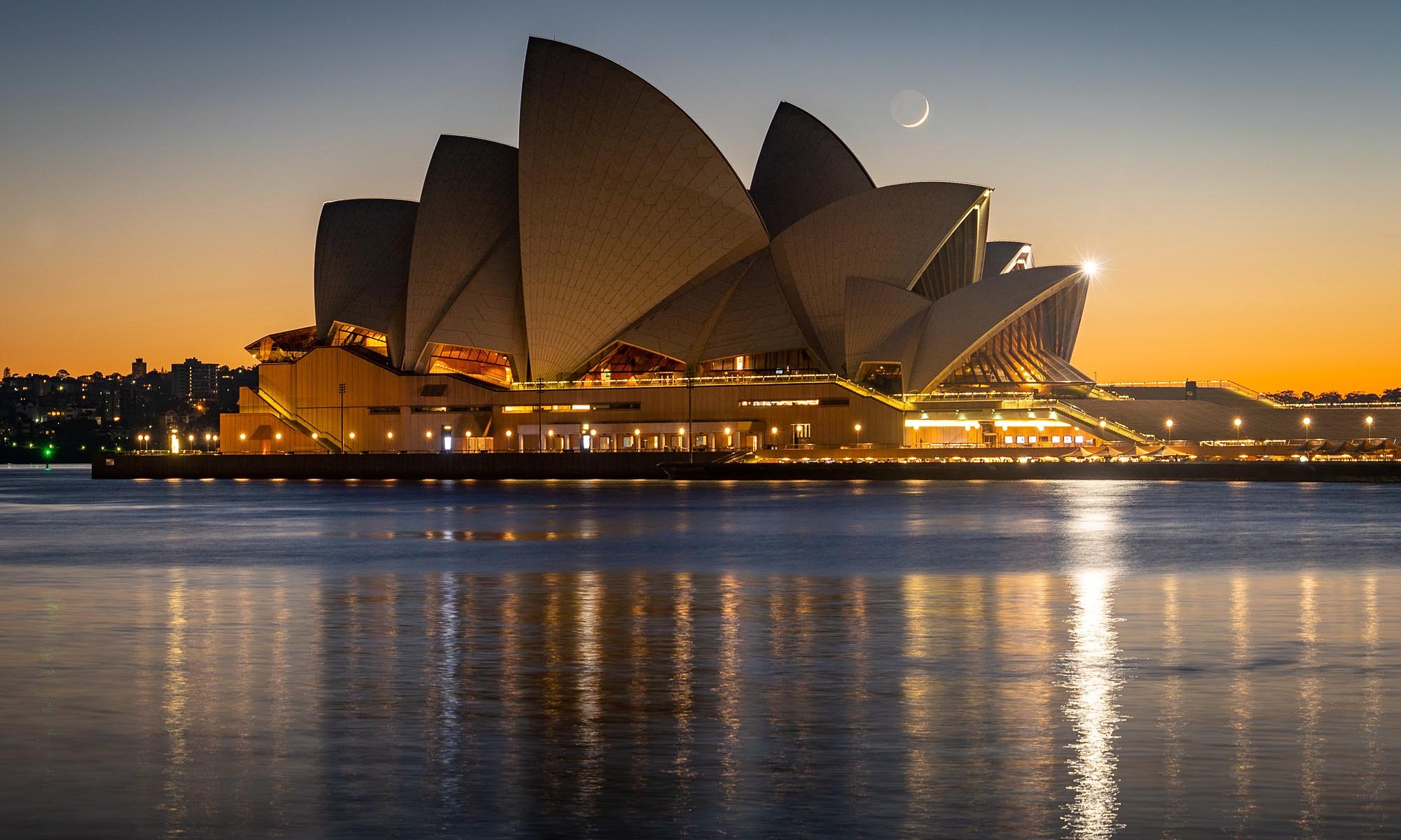 Sydney Opera House at moonrise