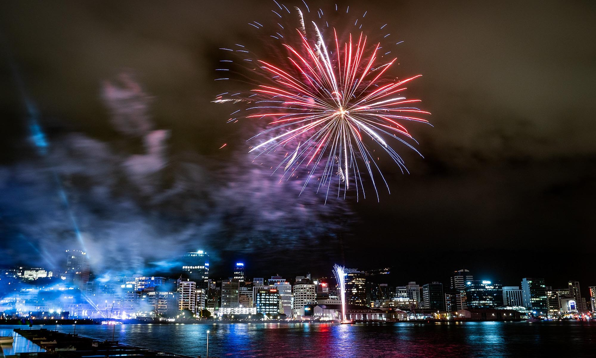 New Years Eve Fireworks over Wellington
