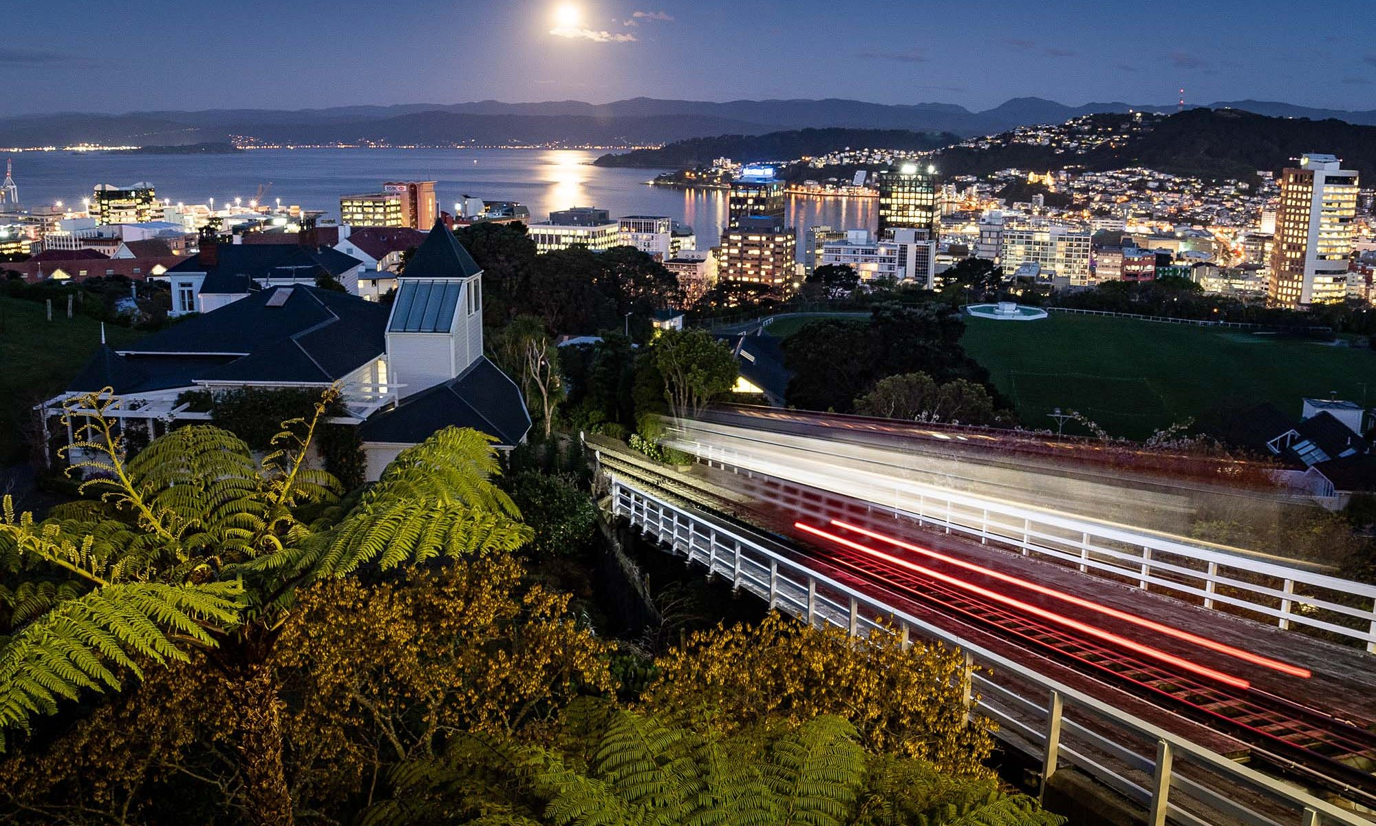 Wellington Cable Car at night