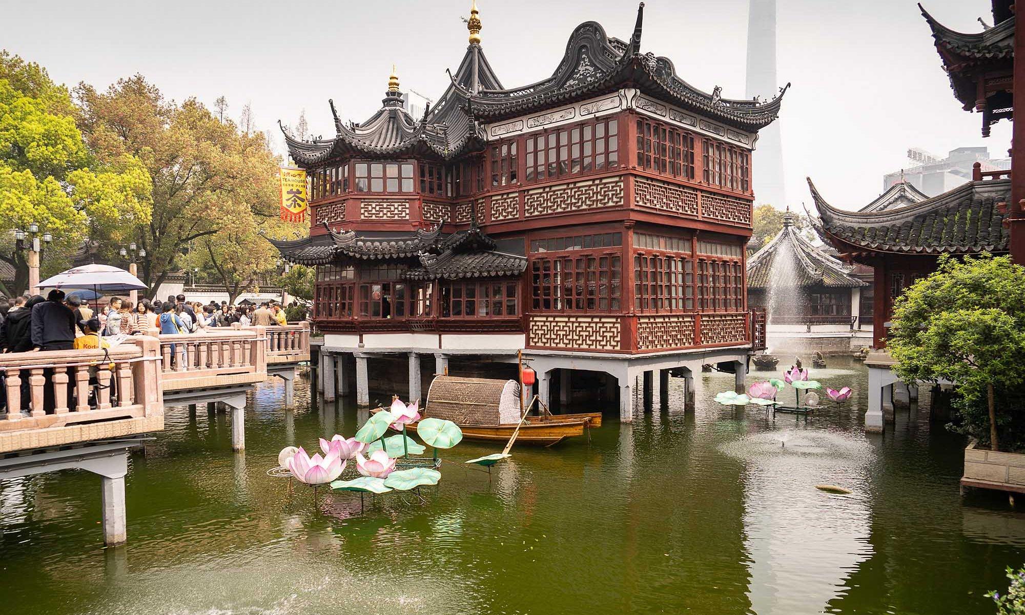 Huxinting Teahouse at Yu Garden