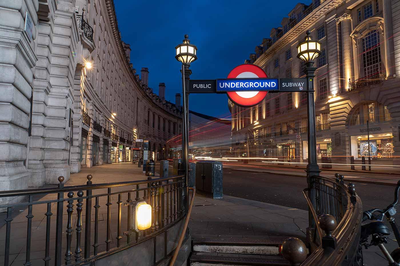 London Underground sign at Regret Street