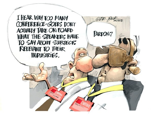 Cartoon – Conferences - July-Aug2019