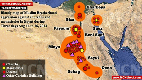 egypte_carte-des-destructions-islamistes_14-08-2013