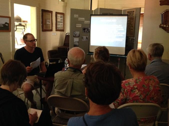 Figure 10: Steven Katz presenting