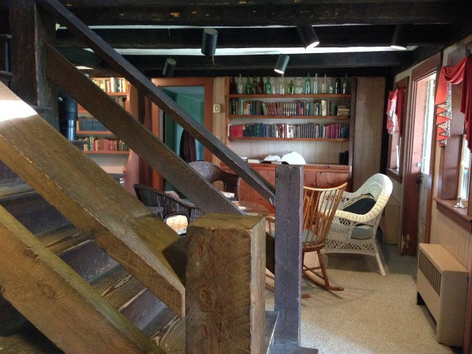 Figure 6: Downstairs sitting room, with the stairway in the foreground