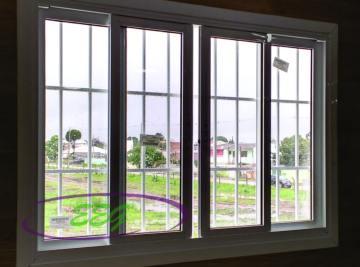 janela de alumínio com grade Curitiba