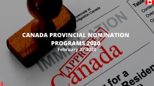Provincial Nomination Program