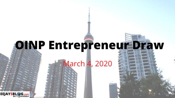 OINP Entrepreneur Draw