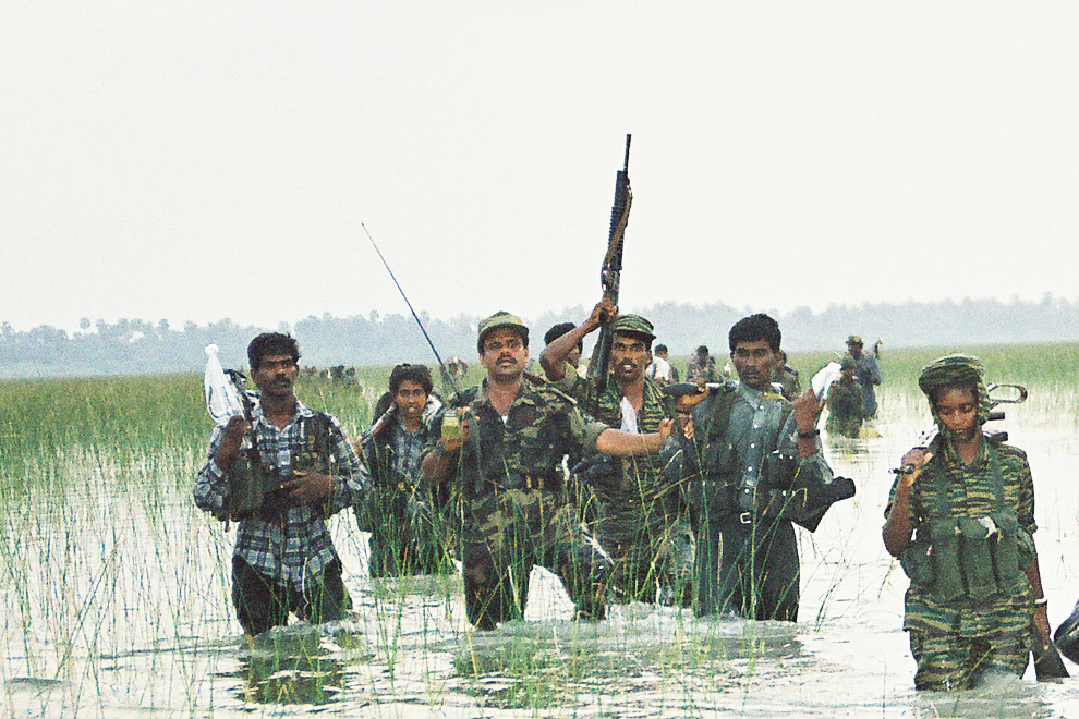 Balraj landing with his troops in Kudaarappu for Iththaavil fighting