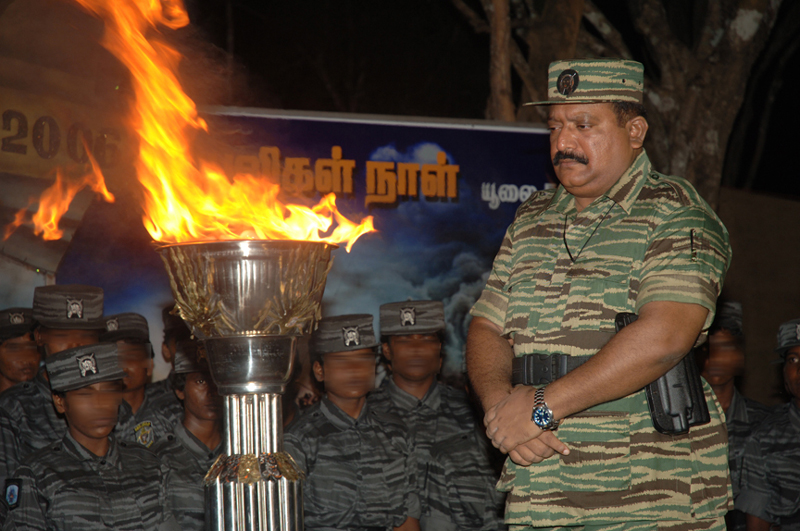 LTTE leader V. Pirapaharan commemorating  Black Tigers