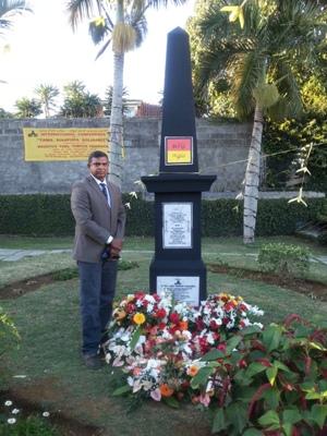 Eelam memorial in Mauritius