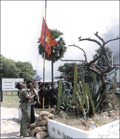 Elephant Pass LTTE flag