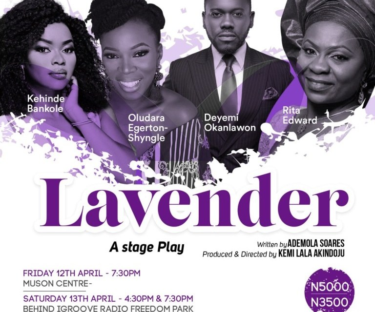 Lala Akindoju New Play 'Lavender' To Show During Lagos Theatre Festival