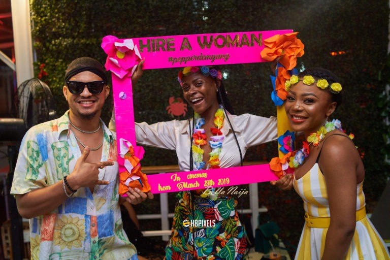 """Photos: Chinneylove Eze's Movie """"Hire A Woman"""" Pre-release Party was Lit!"""
