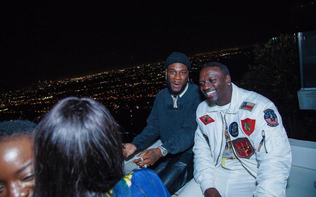 Burna Boy Holds 'African Giant'  Listening Party in Los Angeles
