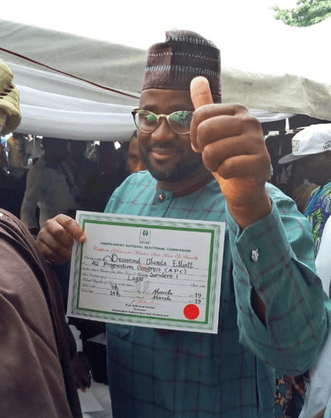 Desmond Elliot Receives Certificate of Return to Lagos State House of Assembly