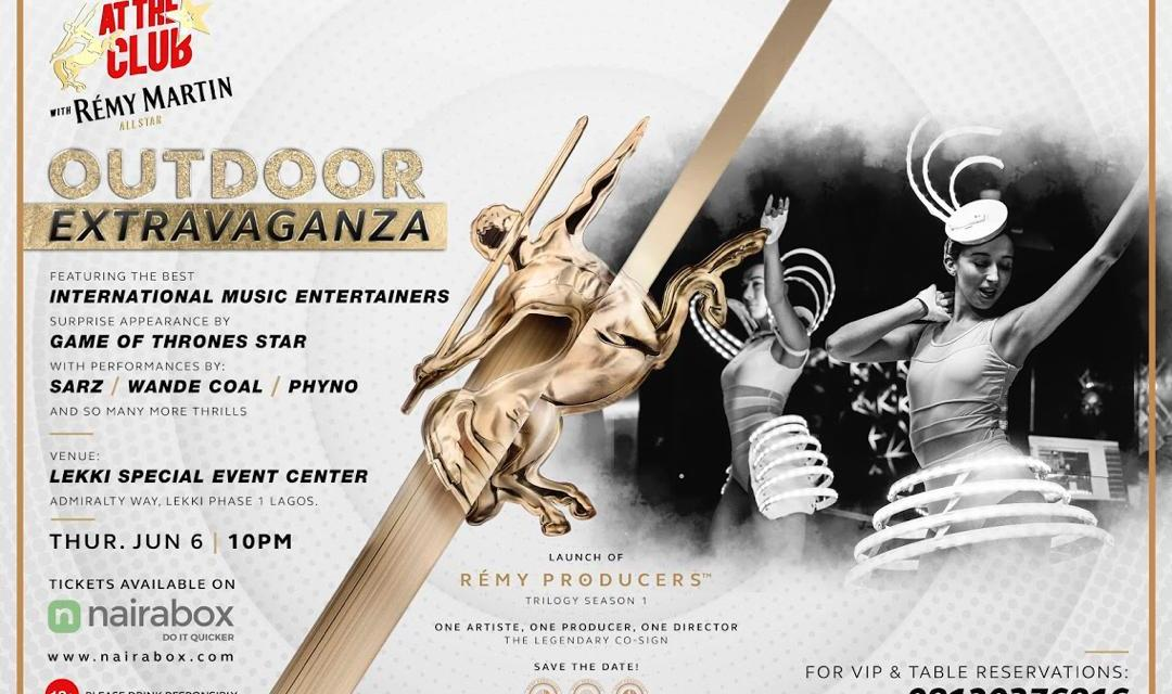 Join Wande Coal, Phyno, iLLbliss For 'At the Club With Remy Martin All Star Extravaganza' Party