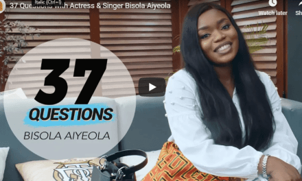 """Watch Bisola Aiyeola answer """"37 Questions"""" about herself"""