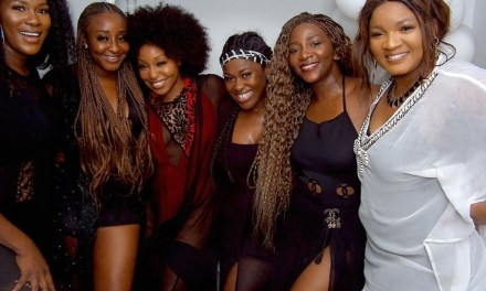 Genevieve Nnaji, Stephanie Linus, Ini Edo, Uche Jombo, Rita Dominic, Omotola Jalade-Ekeinde reunite after over 20years!