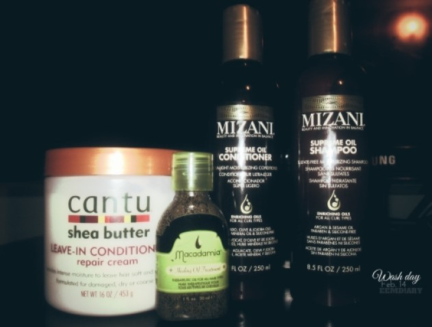 2016.02.16 wash routine for relaxed hair products