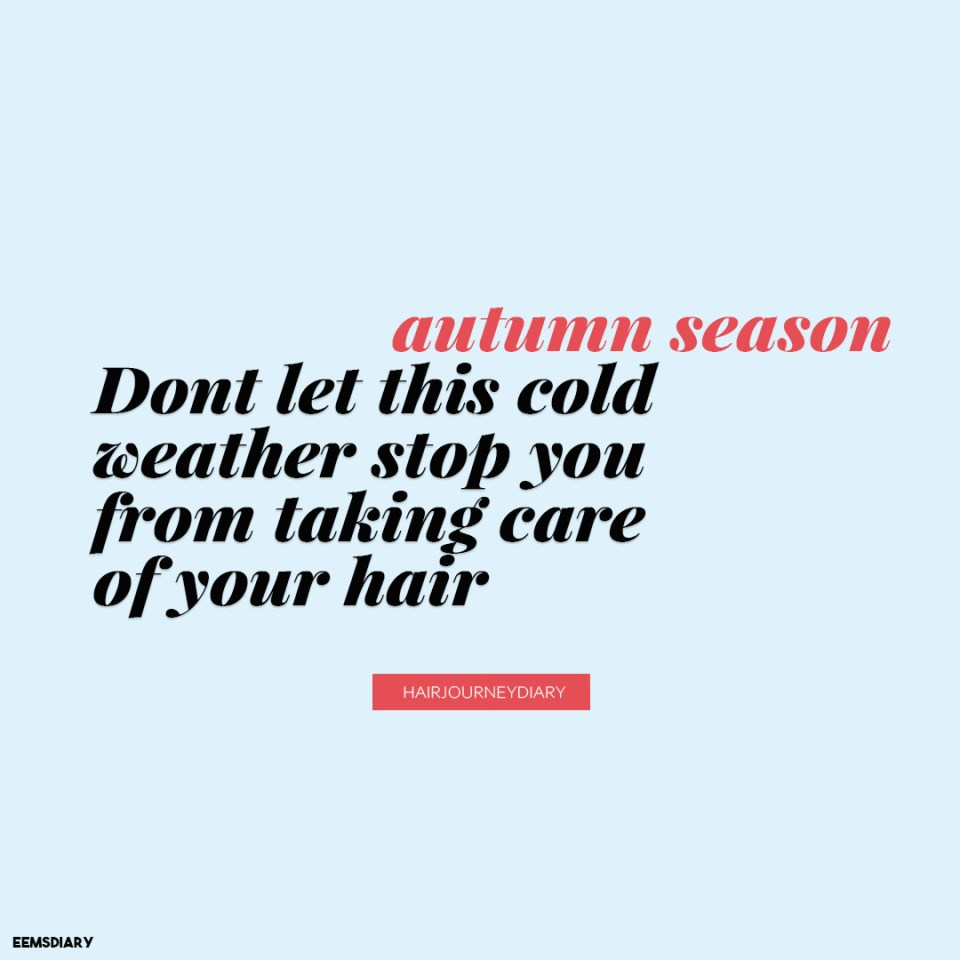 relaxed hair during the cold weather