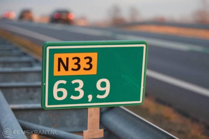 N33 midden tussen Zuidbroek en Appingedam moet volledig energieneutraal worden