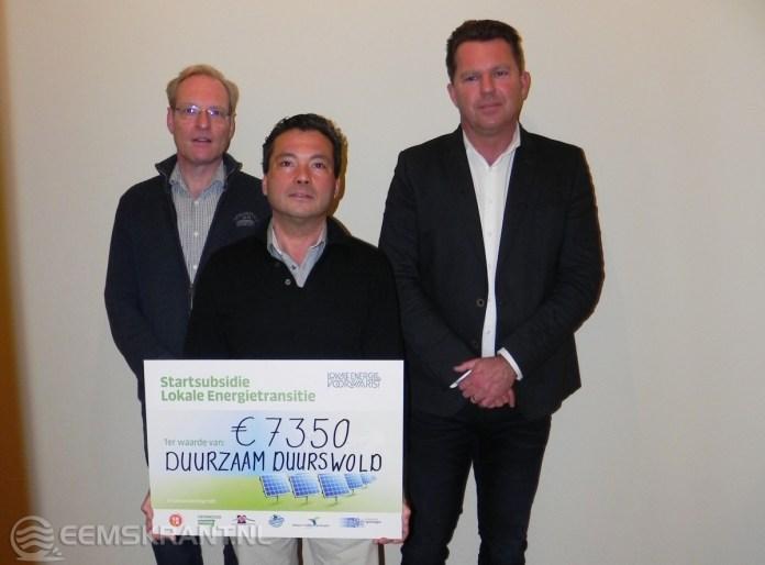 Energiecollectief Duurzaam Duurswold ontvangt startsubsidie lokale energie