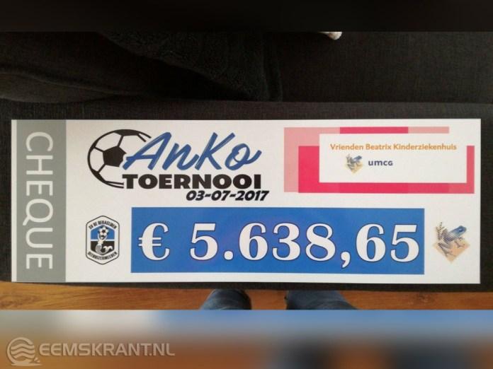AnKo-toernooi haalt ruim 5600 euro op voor Beatrix Kinderziekenhuis