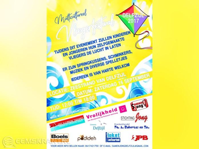 Multicultureel vliegerfestival op het strand van Delfzijl