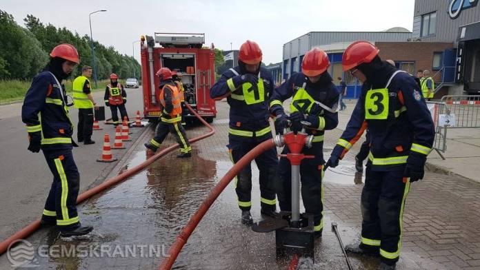 Zesde plaats voor jeugdbrandweer Delfzijl op landelijke wedstrijd in Oudewater