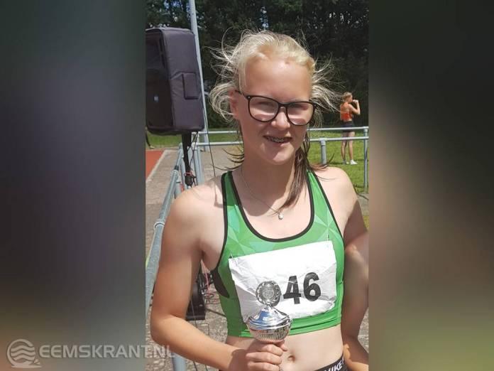 Maud Visscher uit Holwierde behaald tweede plaats op Noord Nederlandse Kampioenschap Meerkamp in Stadskanaal