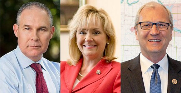 Oklahoma Attorney General Scott Pruitt, Oklahoma Gov. Mary Fallin and North Dakota Rep. Kevin Cramer