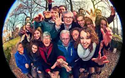 Grappige familiefotografie