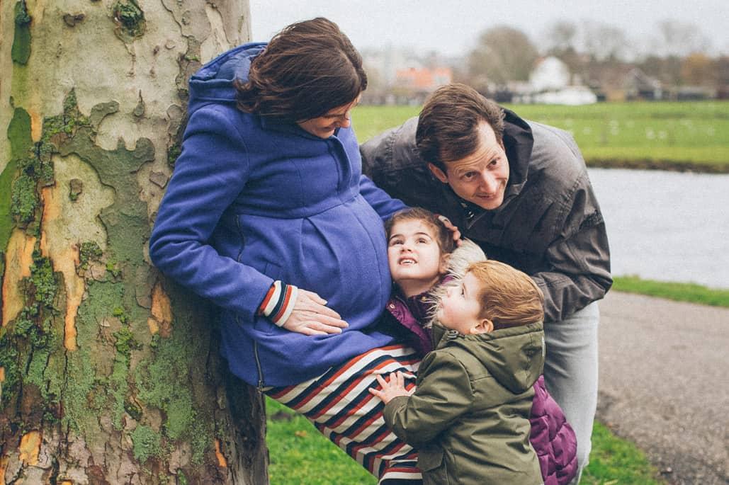zwanger lifestyle foto buiten