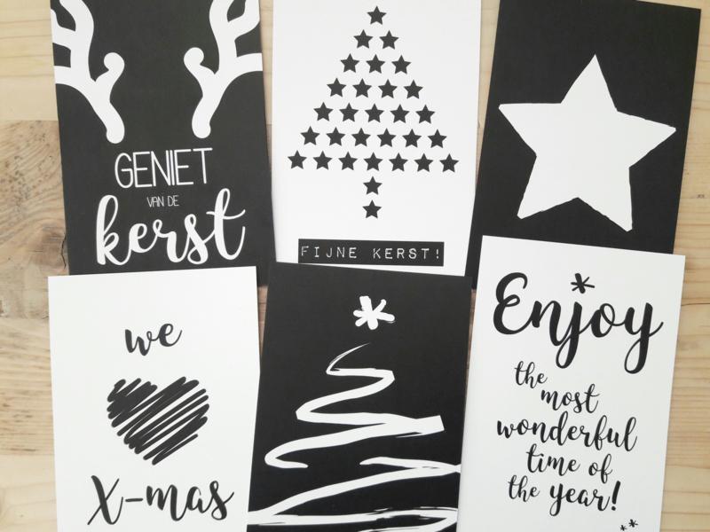 zwart/wit kerstkaarten