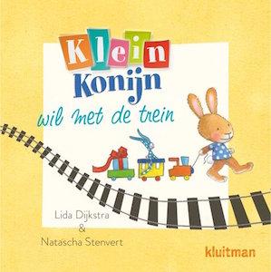 boekomslag Lida Dijkstra - Klein Konijn wil met de trein