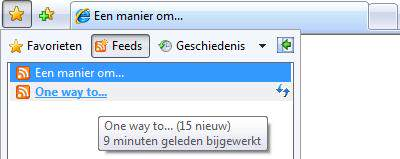 Internet Explorer Favorieten centrum (feeds)