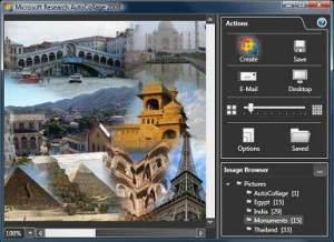 Microsoft AutoCollage view pane