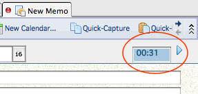 IBM Lotus Notes new memo 2 minute timer