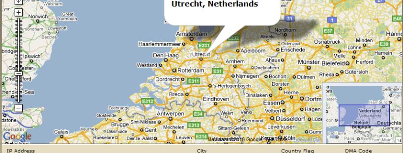 Locatie IP-adres achterhalen