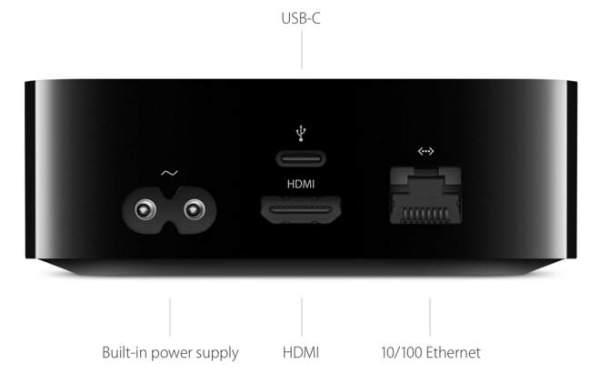Apple TV - achterkant