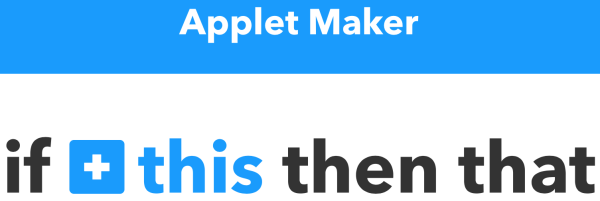 ifttt applet maker