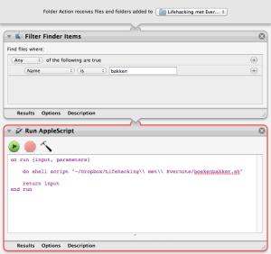 macOS Automator Folder Action