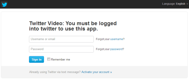 Twitter Video scam via Facebook
